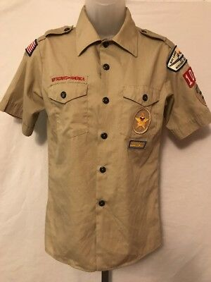 Boy Scouts Of America Button Down Shirt Size Youth Large Made In The Usa