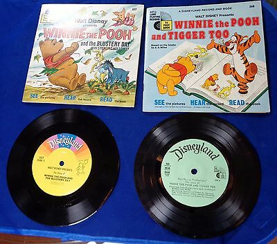 Disney See Hear Read Book & Record: WINNIE THE POOH & TIGGER TOO/BLUSTERY DAY
