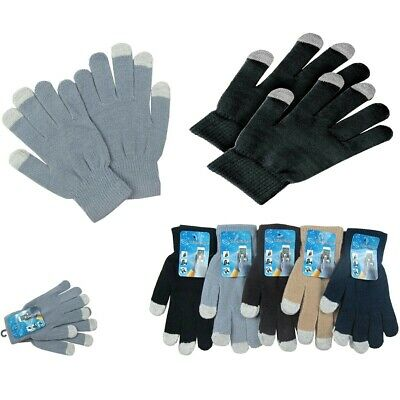6, 12 Magic Winter Touch Screen Gloves Smart Phone Tablet Mitten Wholesale Lots