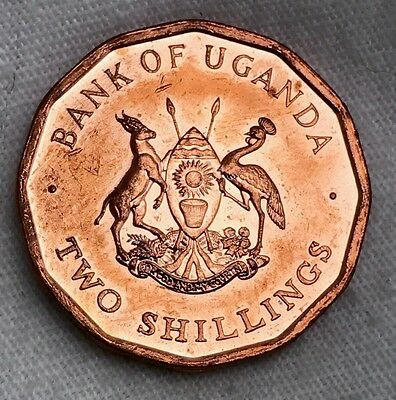 Uganda 2 Shillings 1987, one year issue