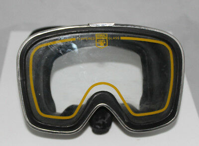 RARE Vintage Coral Snorkel/Dive Diving Mask Scuba Stainless Steel Tempered Glass