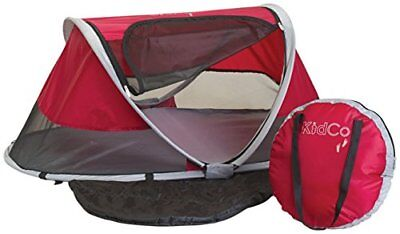 New Baby Travel Bed Portable Crib Pop-Up Beach Tent UV Proteced Peapod Cranberry