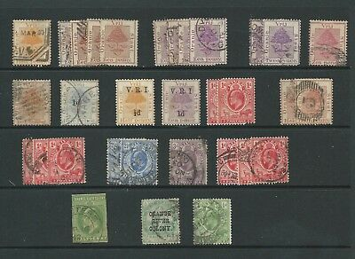 ORANGE RIVER COLONY - Nice lot of old used stamps - see scan