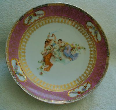 Victoria porcelain large plate charger - Germany -1900