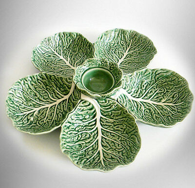 Bordallo  pinheiro large cabbage leaf  sectioned serving dish- FREE SHIPPING