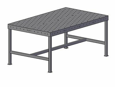 Welding jig table 1.2m x 2m plans and CNC cutting files