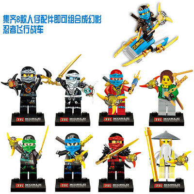 8 Set Ninjago Skeleton Ninja Mini Figures Building Blocks Toys Fits 736