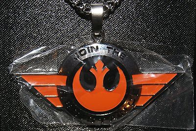 DISNEY Star Wars Force Awakens Join The Resistance Stainless Steel NECKLACE