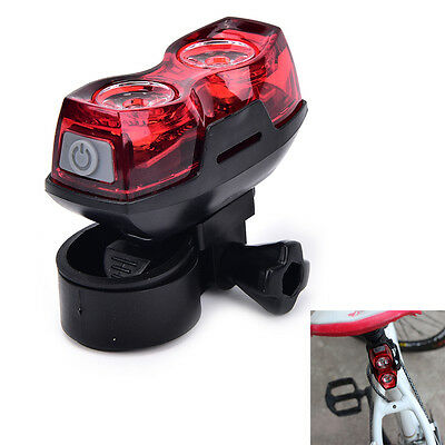 2LED bright cycling bicycle bike safety rear tail flashing back light lamp New.