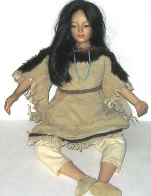 Hamilton Doll Collection SACAJAWEA 1994 #2579C  Porcelain Doll  by David Wright