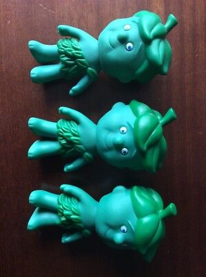 "Jolly Green Giant Little Sprout Figure PVC Plastic Pillsbury Lot Of 3 6.5"" Doll"