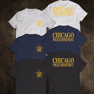 NEW Chicago Police Department United States Tee T-Shirt S-3XL