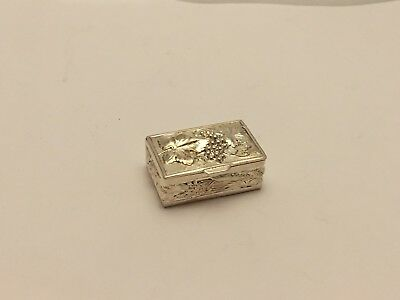 Antique Handmade Sterling Silver Pill Box