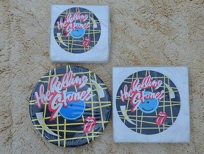 Rolling Stones 1983 Tattoo You Small Party Plates and Napkins Sealed Vintage