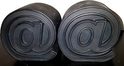 @ / At Symbol bookends - heavy very nice! Paper weights very nice shelf piece