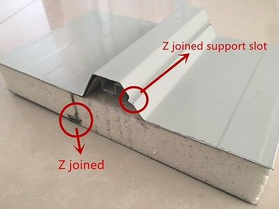 "75mm Insulated Roofing Panel HEAVY DUTY ""Z"" LOCK' Smooth Ceiling KOOL PANEL"