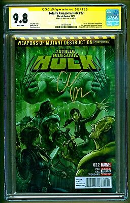 Totally Awesome Hulk #22 1st appearance of Weapon H Signed Greg Pak SS CGC 9.8