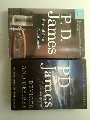 2 PD James Devices and Desire, Shroud for a Nightingale Trade Paperback Lg Print