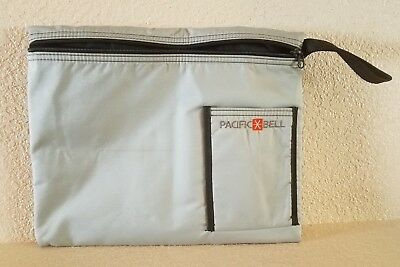 Vintage Pacific Bell Zippered Textile File Folio