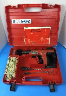 HILTI DX35 Powder Actuated Nail Gun Tool w/ Case , Brushes, & Over 500 Shots