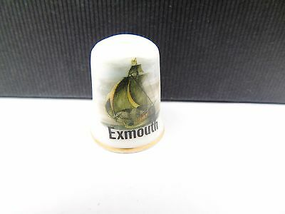 Vintage Exmouth  Tourist Pottery Retro Collectable Sewing Thimble
