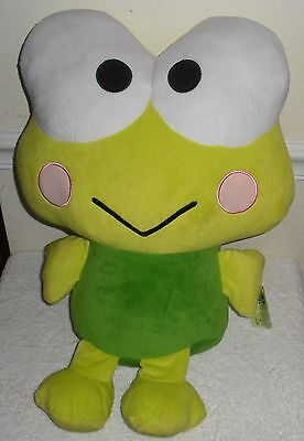 "Sanrio Hello Kitty Large 21"" X 14"" KEROPPI Frog Velvety Heavy Plush w/ Tags  VGC"
