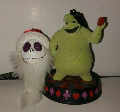 Disney The Nightmare Before Christmas Oogie Boogie Sandy Claws Ornament Set Of 2