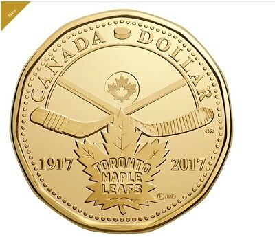 2017 $1 Loonie 100th Anniversary of The Toronto Maple Leafs® - UNC