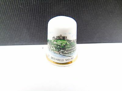 Vintage St Michaels Mount Tourist Pottery Retro Collectable Sewing Thimble