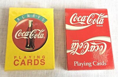 2 Decks Sealed Coca Cola Playing Cards Circle Sign Classic Script New