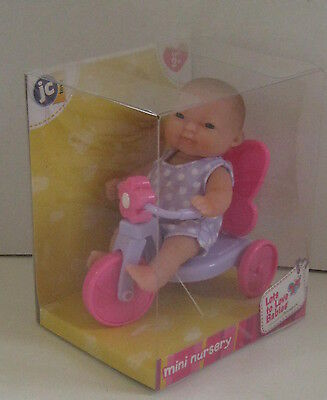 Berenguer Mini Nursery 5 inch lots to love baby doll on tricycle New in box.