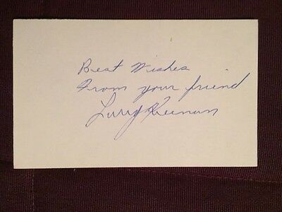 Larry Keenan Leafs Blues Autographed Signed Index Card