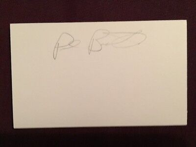 Paul Baxter Nordiques Penguins Flames NHL WHA Hockey Vintage Signed Index Card