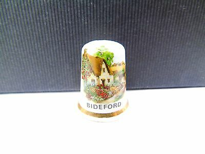 Vintage Bideford Place Tourist Pottery Retro Collectable Sewing Thimble