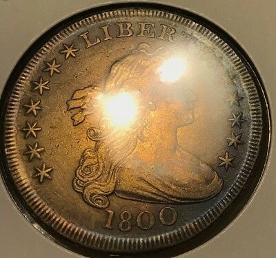 1800 Draped Bust Silver Dollar. Early Date. All details! Luster AU? MS?