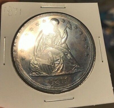 1871 Seated Liberty Silver Dollar. $1 . PROOF coin. PR