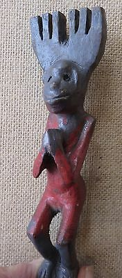 Vintage Guatemalan Carved Wood Slingshot/Red Monkey