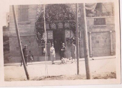 Old Photo Wedding House Women Man Uniform Police Repulse Bay Dog Hong Kong Cl1