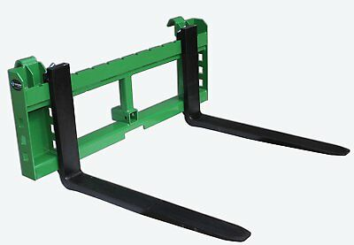 """48"""" Pallet Fork Attachment with 2"""" Trailer Receiver Hitch fits John Deere"""