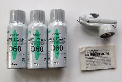 Copic Air Brushing System Airgrip and 3x cans D60