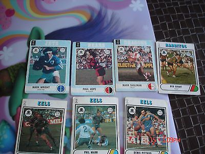 7 mixed rugby league cards 1976-77