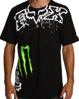 NEW FOX RACING MONSTER ENERGY MENS T-SHIRT TEE BNWOT SZ M L XL XXL - Genuine