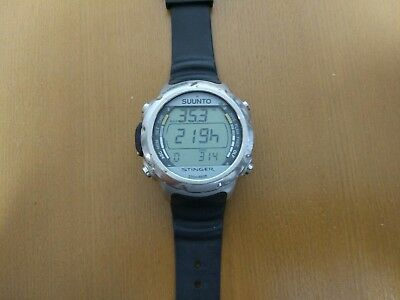 SUUNTO dive conputer Stinger New Battery and New Belt Stopper.