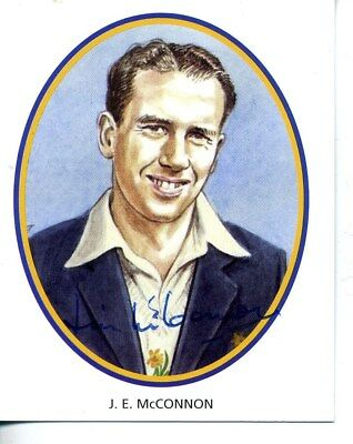 County Print Card: Glamorgan Cricketers SIGNED by Jim McConnon