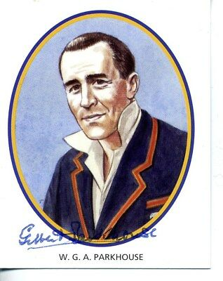 County Print Card: Glamorgan Cricketers SIGNED by Gilbert Parkhouse