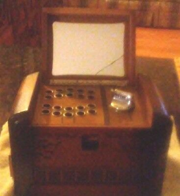 "Rare Vintage Original Wooden Working Risque Music Box 6 1/2"" By 8"" Long 1920/30s"