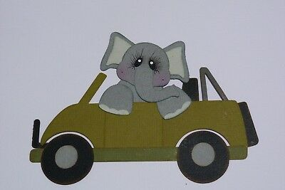 Elephant Driving A Jeep Fully Assembled Die Cut