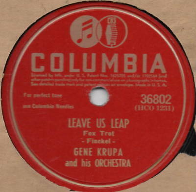"78er Jazz Swing Gene Krupa Orchestra ""Leave Us Leap"""