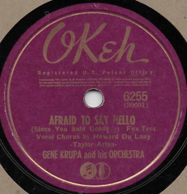 "78er Swing Gene Krupa Orchestra ""Afraid To Say Hello"""