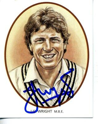 County Print Card: Derbyshire Cricketers SIGNED by John Wright